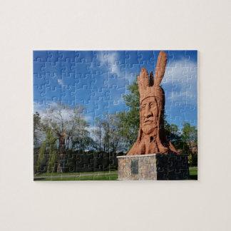 Wasatchの彫像のマレー主な公園、ソルト・レーク・シティ ジグゾーパズル