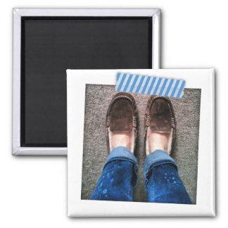 WashiテープInstagramの青くストライプのな磁石 マグネット