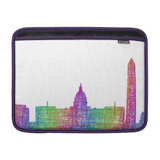 Washington D.C.のスカイライン MacBook スリーブ