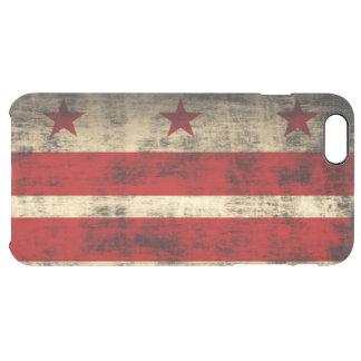 Washington D.C.のヴィンテージのグランジな旗 クリア iPhone 6 Plusケース