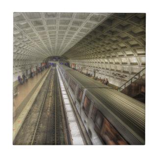 Washington D.C.の地下鉄の駅 タイル