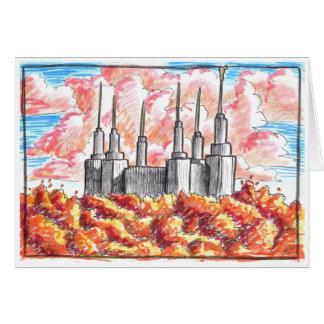 Washington D.C.の寺院カード カード