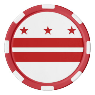 Washington D.C.の旗が付いているポーカー用のチップ カジノチップ