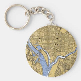 Washington D.C.の運行港の図表Keychain キーホルダー