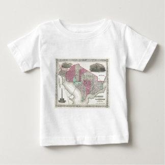 Washington D.C.の1866年のジョンソンの地図 ベビーTシャツ