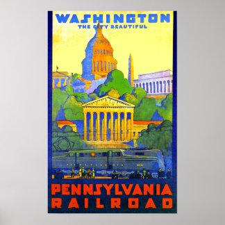 Washington D.C.へのペンシルバニアの鉄道 ポスター