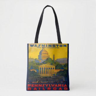 Washington D.C.ペンシルバニアの鉄道ヴィンテージのトート トートバッグ
