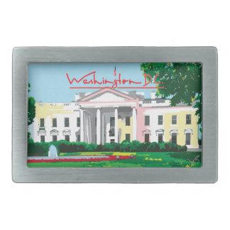 Washington D.C. -ホワイトハウスの正方形 長方形ベルトバックル
