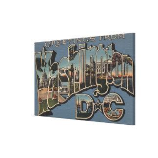 Washington D.C. -大きい手紙場面 キャンバスプリント