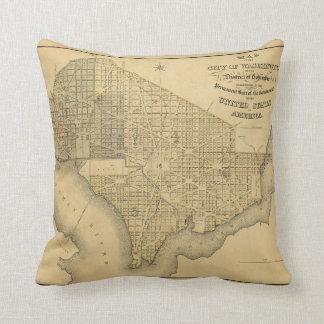 Washington D.C. (1839年)の都市の地図 クッション