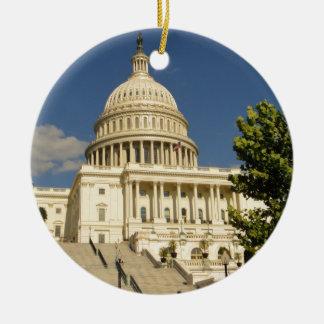 Washington D.C. Capitol Building 陶器製丸型オーナメント