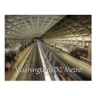 Washington DC Metro Train Station ポストカード