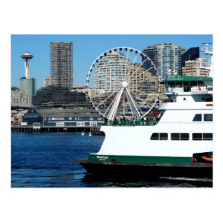 Washington State Postcard- Seattle and Ferry ポストカード