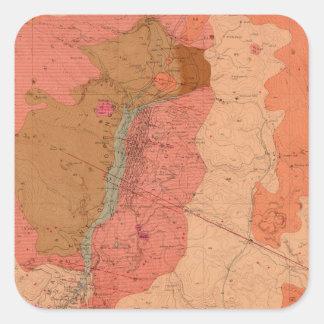 Washoe地区の地質地図 スクエアシール