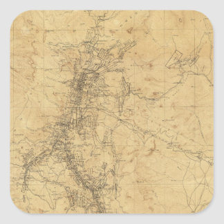 Washoe地区、ネバダの輪郭の地図 スクエアシール