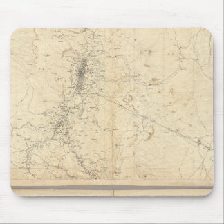 Washoe鉱山の地域の地形図 マウスパッド