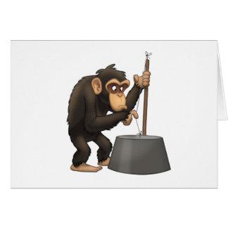 Washtub低音Playinの」チンパンジーのメッセージカード カード