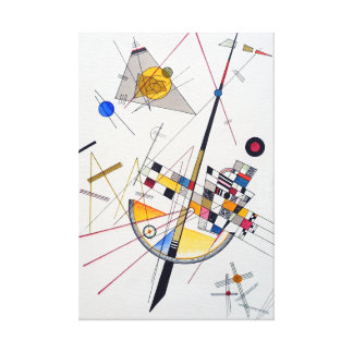 Wassily Kandinskyの敏感な張力 キャンバスプリント