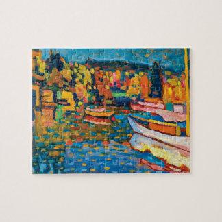 Wassily Kandinsky著ボートとの秋の景色 ジグソーパズル