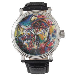 Wassily Kandinsky -モスクワの都市景観の抽象美術 腕時計