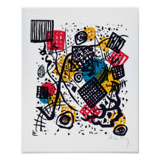 Wassily Kandinsky -小さい世界Vの抽象美術 ポスター
