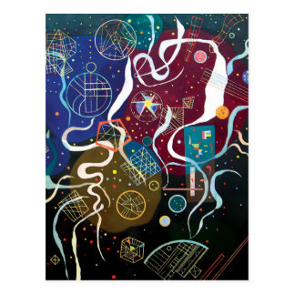 Wassily Kandinsky - Movement One Abstract Art ポストカード