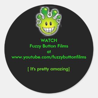 Watchh曖昧なボタンのフィルム ラウンドシール
