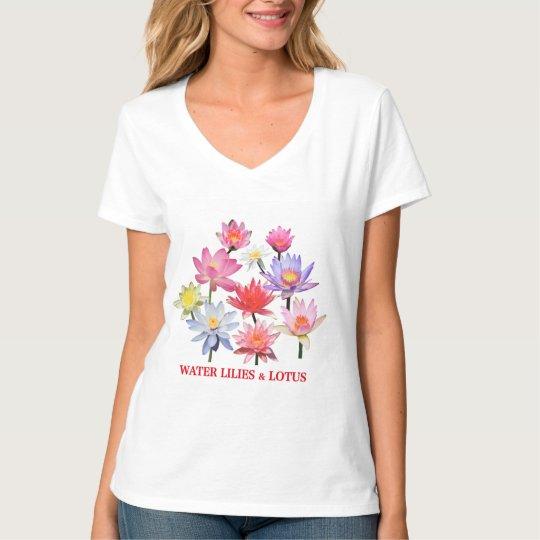 Water Lilies & Lotus Tシャツ