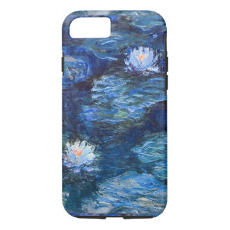 Water Lily Pond in Blue Monet Fine Art iPhone 8/7ケース
