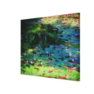 Water Lily Pond:Premium Canvas キャンバスプリント