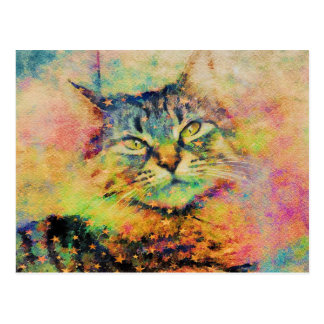 Watercolor Kitty Postcard ポストカード