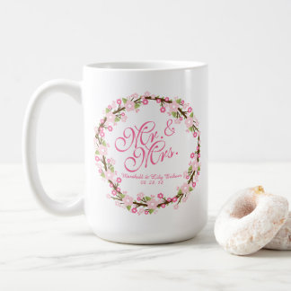 Watercolor Wedding Classic Mug氏及び夫人 コーヒーマグカップ