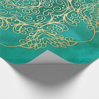 Watercolour & Gold Mandala ラッピングペーパー