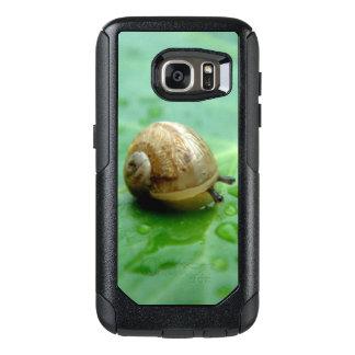 Waterdropsの葉の赤ん坊かたつむり オッターボックスSamsung Galaxy S7ケース