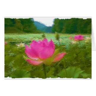 waterlillies グリーティングカード