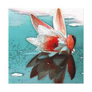 Waterlillyのキャンバスのプリント キャンバスプリント