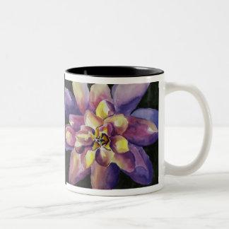 Waterlillyの芸術のコーヒー・マグ ツートーンマグカップ