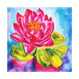waterlillyピンクのキャンバスのプリント キャンバスプリント