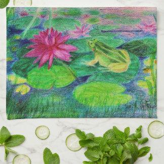 waterlilly elve キッチンタオル