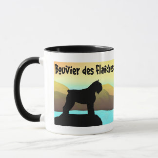 WatersideのBouvier des Flandres マグカップ