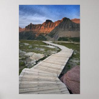 Watertonの氷河インターナショナルの遊歩道 ポスター