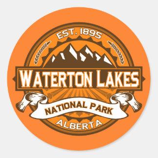Waterton湖のロゴ ラウンドシール