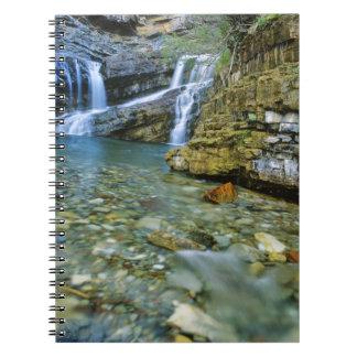 Waterton湖の国立公園のカメロンの滝 ノートブック