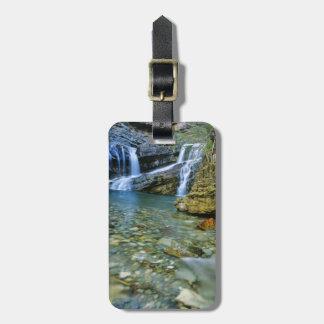 Waterton湖の国立公園のカメロンの滝 ラゲッジタグ