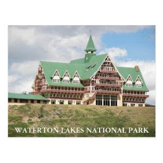 Waterton湖の国立公園の写真 ポストカード