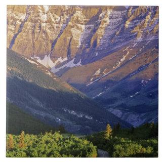 Waterton湖の国立公園の赤い石の道 タイル