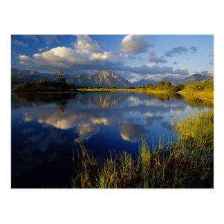 Waterton湖の国立公園のMaskinonge湖 ポストカード