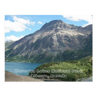 Waterton湖の国立公園旅行写真 ポストカード
