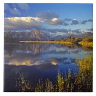 Waterton湖の国立公園3のMaskinonge湖 タイル