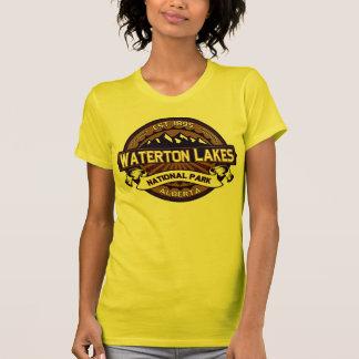 Waterton湖の鮮やかなロゴ Tシャツ